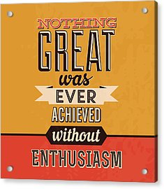 Enthusiasm Acrylic Print by Naxart Studio