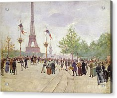 Entrance To The Exposition Universelle Acrylic Print by Jean Beraud