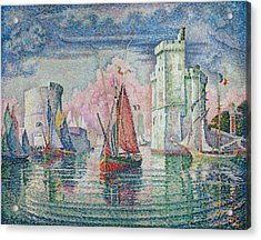Entrance To The Harbour Of La Rochelle Acrylic Print by Paul Signac