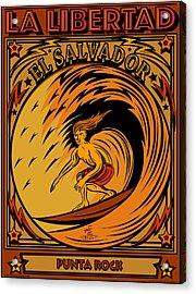 Epic Surf Designs Surf El Salvador Acrylic Print by Larry Butterworth