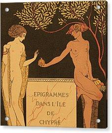 Epigrammes Dans L'ile De Chypre Acrylic Print by Georges Barbier