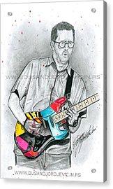 Eric Clapton Acrylic Print by Dusan Djordjevic