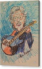 Eric Clapton  Acrylic Print by Geraldine Myszenski