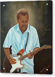 Eric Clapton Acrylic Print by Helen Thomas