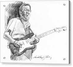Eric Clapton Jam Acrylic Print by David Lloyd Glover