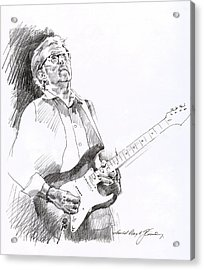 Eric Clapton Joy Acrylic Print by David Lloyd Glover