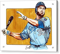 Eric Hosmer Of The Kansas City Royals Acrylic Print by Dave Olsen