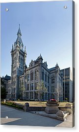 Erie County Hall Acrylic Print by Peter Chilelli