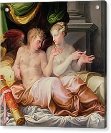 Eros And Psyche Acrylic Print by Niccolo dell Abate