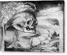 Eros Thanatos Acrylic Print by Otto Rapp