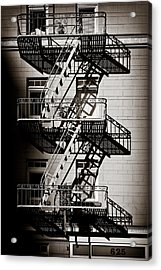 Escape Acrylic Print by Dave Bowman