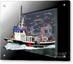 Escaping The Seagulls Acrylic Print by Sue Melvin
