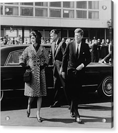 Escorted By President Kennedy Acrylic Print by Everett