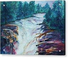 Esopus Creek Acrylic Print by Ellen Levinson