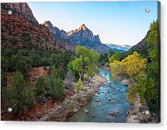Sunrise At The Watchman - Zion National Park - Utah Acrylic Print by Brian Harig