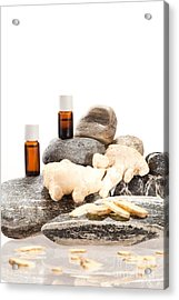 Essential Oil From Ginger Acrylic Print by Wolfgang Steiner