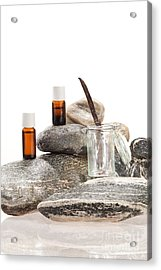 Essential Oil From Vanilla Acrylic Print by Wolfgang Steiner