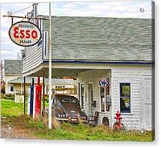 Esso Gas Staion Acrylic Print by Jack Schultz