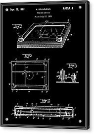 Etch-a-sketch Patent - Black Acrylic Print by Finlay McNevin