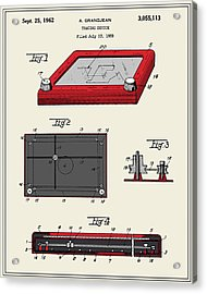 Etch-a-sketch Patent Acrylic Print by Finlay McNevin