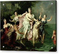 Europa Being Carried Off By Jupiter Metamorphosed Into A Bull Acrylic Print by Pierre Gobert