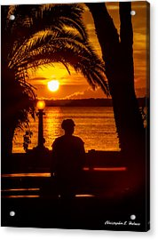 Eustis Sunset Acrylic Print by Christopher Holmes