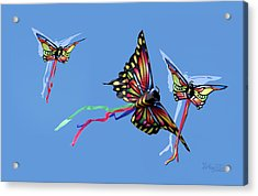 Even Butterflies Have Guardian Angels Acrylic Print by Anthony R Socci