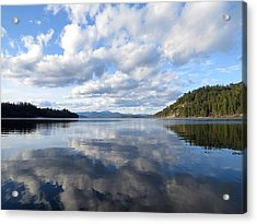 Evening At Priest Lake Acrylic Print by Feva  Fotos