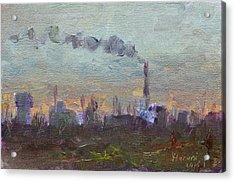Evening By Industrial Site Acrylic Print by Ylli Haruni