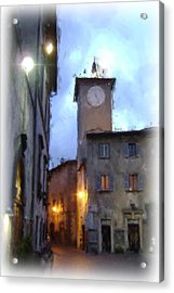 Evening Comes To Italy Acrylic Print by Lynn Andrews
