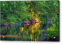Evening On The Humber River - Paint Acrylic Print by Steve Harrington