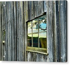 Evening Out At The Barn Acrylic Print by Julie Dant