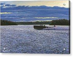 Evening Run Acrylic Print by Richard De Wolfe