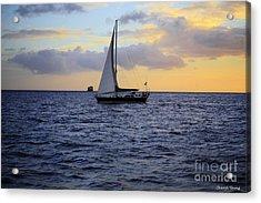 Evening Sail Acrylic Print by Cheryl Young