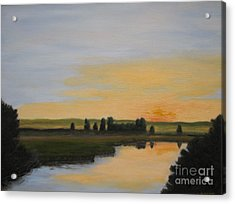 Evening Solitude Acrylic Print by Laura Roberts