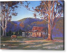 Evening Tapestry Dyers Crossing Acrylic Print by Louise Green