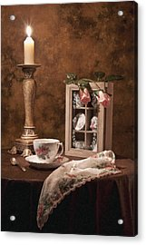 Evening Tea Still Life Acrylic Print by Tom Mc Nemar
