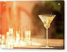 Evening With Martini Acrylic Print by Ekaterina Molchanova