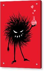 Evil Bug With A Love Potion Acrylic Print by Boriana Giormova