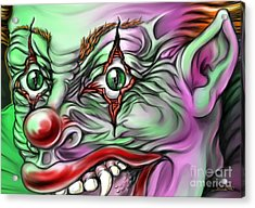 Evil Clown Eyes Acrylic Print by Michael Spano