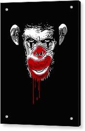 Evil Monkey Clown Acrylic Print by Nicklas Gustafsson