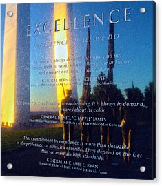 Excellence Acrylic Print by Mitch Cat