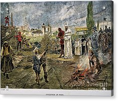 Execution Of Jan Hus, 1415 Acrylic Print by Granger
