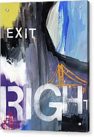 Exit Right- Art By Linda Woods Acrylic Print by Linda Woods