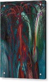 Experimental Tree Acrylic Print by Linda Sannuti