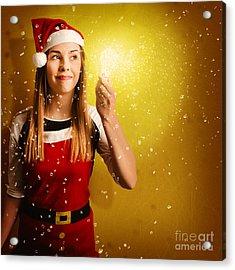 Explosive Christmas Gift Idea Acrylic Print by Jorgo Photography - Wall Art Gallery