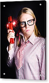 Explosive Nerd Erupts With Fury Acrylic Print by Jorgo Photography - Wall Art Gallery