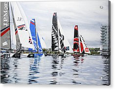 Extreme Sailing Series, Cardiff, 2014 Acrylic Print by Mark Woollacott