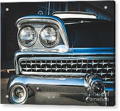 Eye Of A Ford Fairlane Acrylic Print by Sonja Quintero
