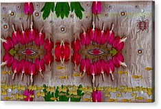 Eyes Made Of The Nature Acrylic Print by Pepita Selles